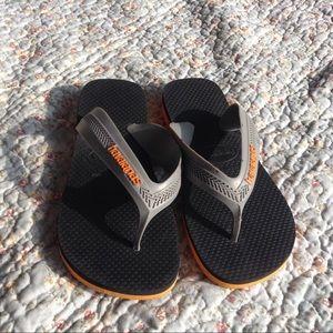 Havaianas   boys blk orange grey